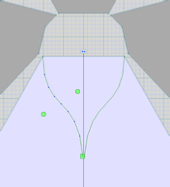 Drawing a new neckline
